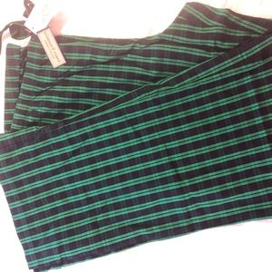 Vineyard Vines lounge pj pants XL navy green plaid